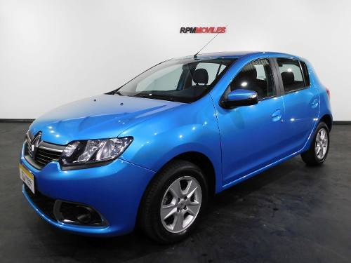 Renault Sandero 1.6 Privilege Pack Celeste 2015 Rpm Moviles